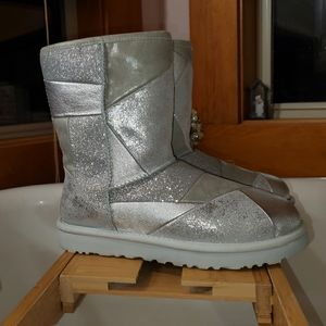 Brand New Ugg Classic Glitter Patchwork Boot (8)